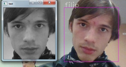 Face recognition improved by face aligning