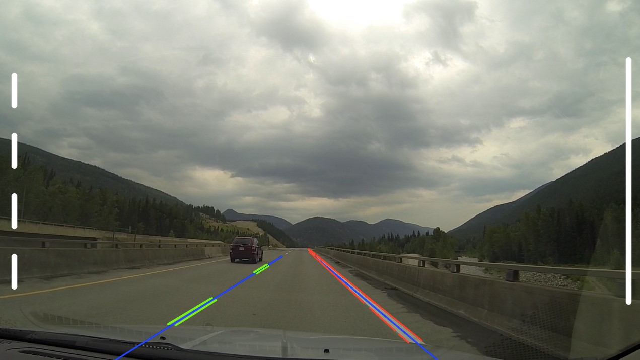 Lane markers detection